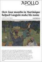 "Apollo Art Magazine, about ""Gauguin & Laval in Martinique"" and ""Caribbean Hurricane"" at Van Gogh Museum"